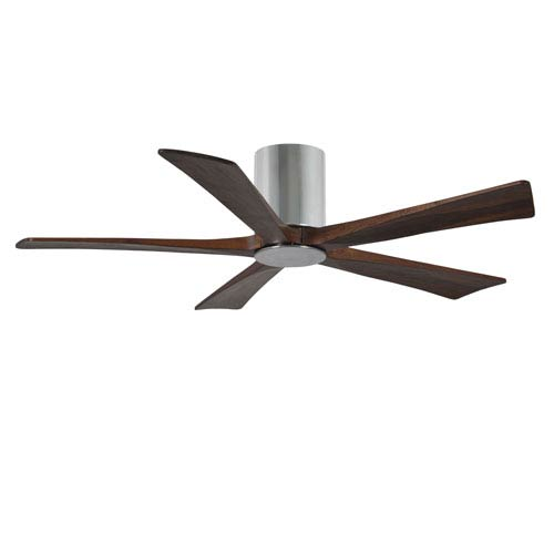 Irene-H Five Blade Polished Chrome 52-Inch LED One-Light Hugger-Style Ceiling Fan