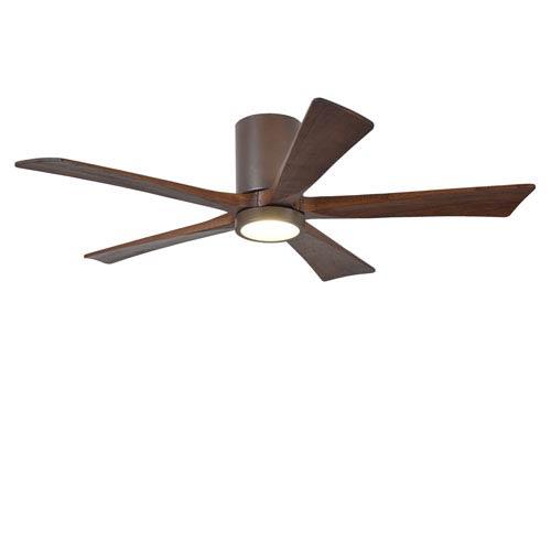 Irene-H Five Blade Textured Bronze 52-Inch LED One-Light Hugger-Style Ceiling Fan
