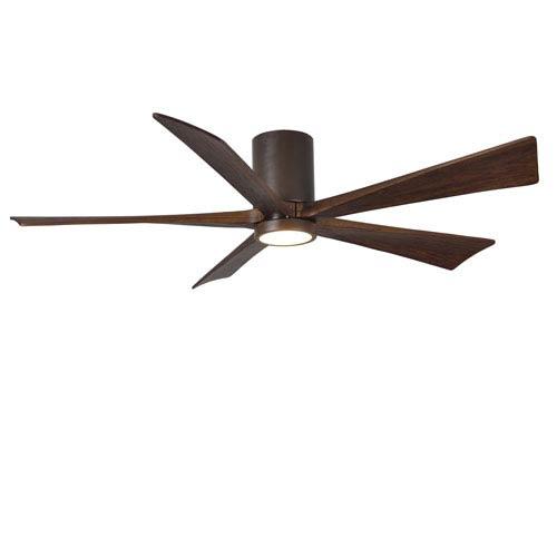 Irene-H Five Blade Textured Bronze 60-Inch LED One-Light Hugger-Style Ceiling Fan