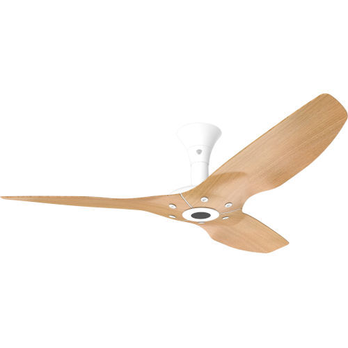 Haiku White 52-Inch Low Profile Outdoor Ceiling Fan with Caramel Bamboo Blades