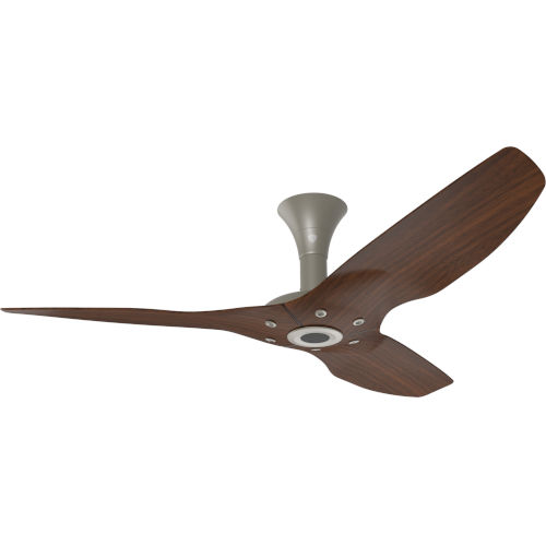 Haiku Satin Nickel 52-Inch Low Profile Outdoor Ceiling Fan with Cocoa Bamboo Blades