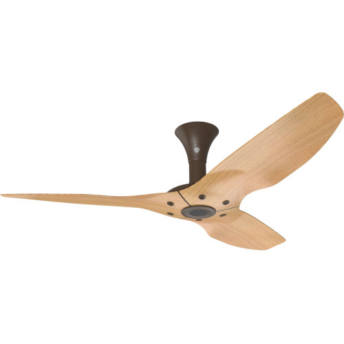 Haiku Oil Rubbed Bronze 52-Inch Low Profile Outdoor Ceiling Fan with Caramel Bamboo Blades