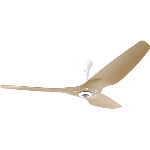 Haiku White 60-Inch Low Profile Smart Ceiling Fan with Caramel Bamboo Blades