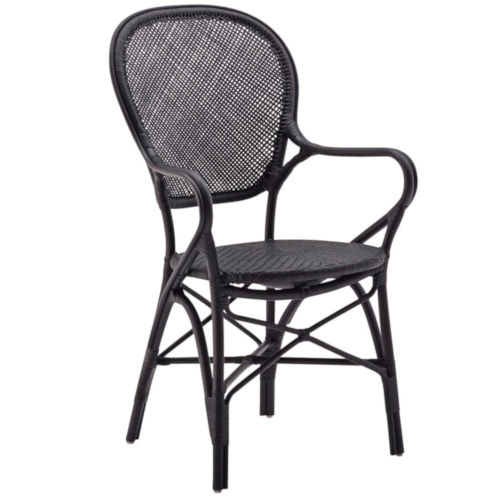 Rossini Black Dining Armchair