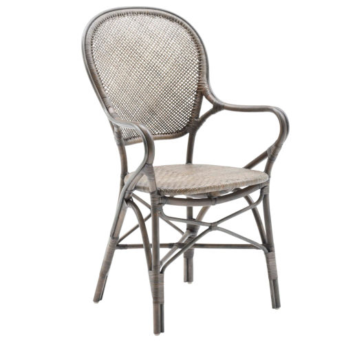 Rossini Taupe Gray Dining Armchair