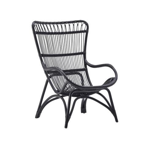Monet Black High Rack Lounge Chair