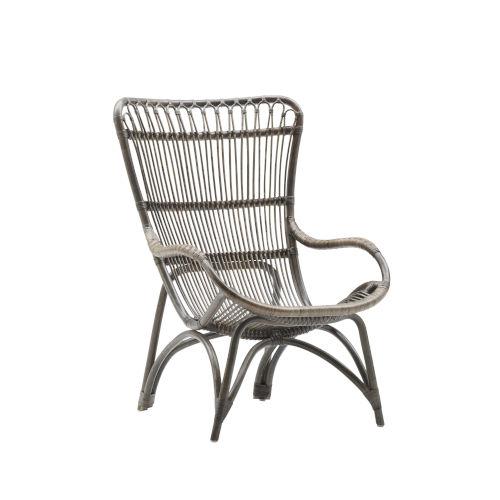 Monet Taupe Gray High Rack Lounge Chair