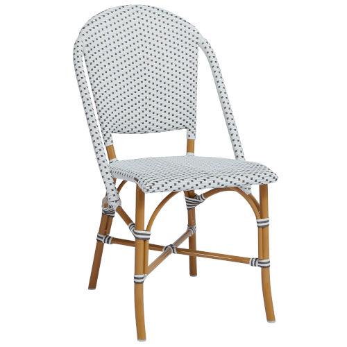 Alu Affaire Sofie White Patio Side Chair