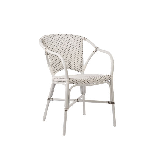Valerie White and Cappuccino Outdoor Chair