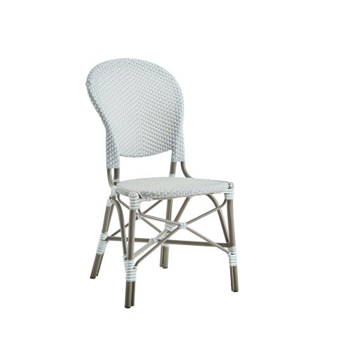 Isabell Taupe, Gray and White Outdoor Dining Chair