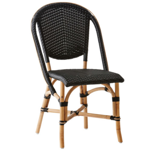 Sofie Natural and Black Bistro Dining Side Chair