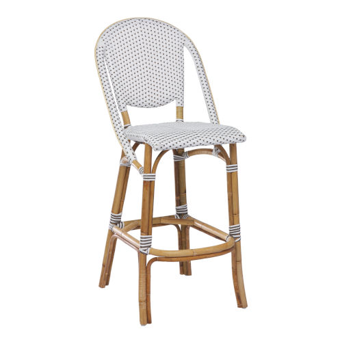 Sofie White and Cappuccino Bar Stool