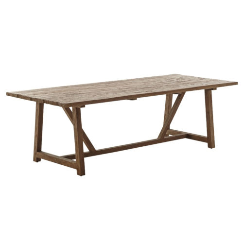 Lucas Natural Brown 95-Inch Dining Table