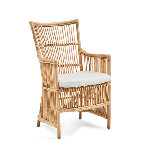 Davinci Natural and White Chair with Tempotest Canvas Cushion