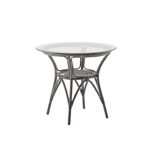 Taupe Coffee Table with Glass Top