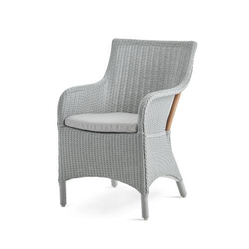Charlot Light Gray Chair Loom with Sunbrella Sailcloth Seagull Cushion