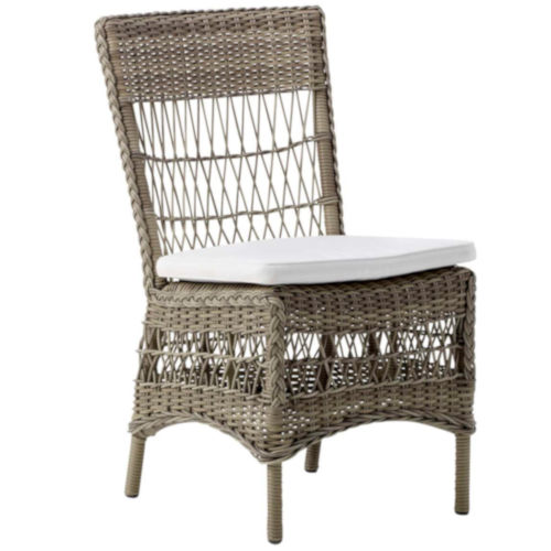 Marie Antique and White Outdoor Side Chair