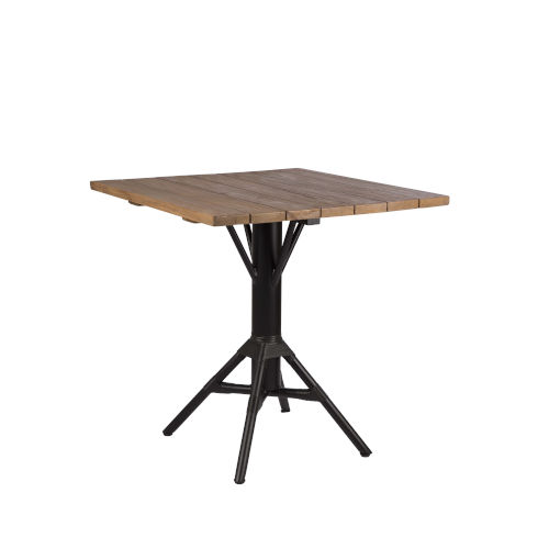 Nicole Café Black Outdoor Table Base with Square Top