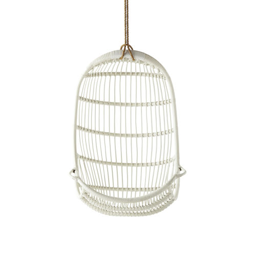 American White Hanging Rattan Chair