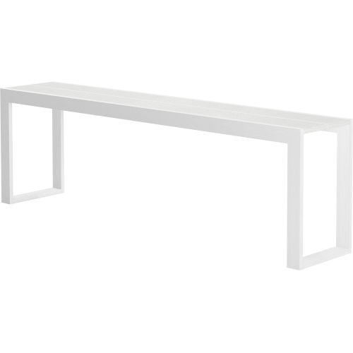 Hanover White Crocco Reclaimed Leather 102-Inch Console Table