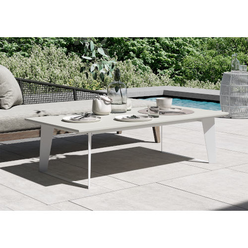 Amsterdam White Sand Concrete Outdoor Coffee Table
