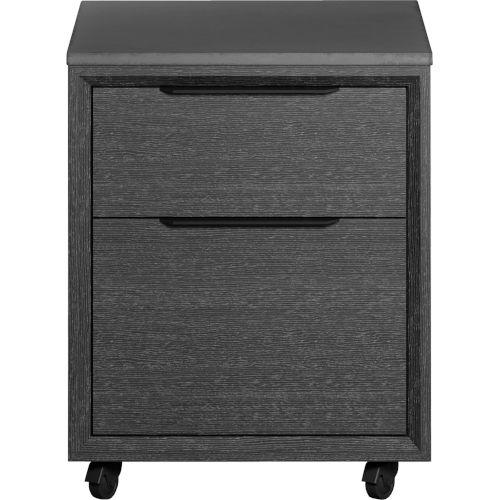 Amsterdam Gray Oak Mobile File Cabinet
