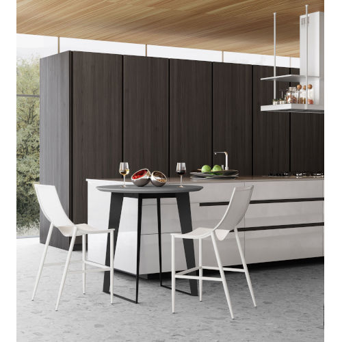 Amsterdam Gray Concrete 36-Inch Dining Table