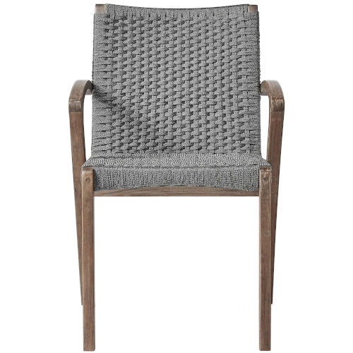 Verge Gray Cord Outdoor Dining Chair