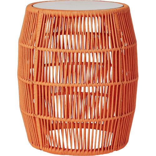 Volta Orange Cord Outdoor Accent Table