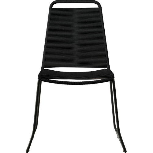 Barclay Black Cord Outdoor Dining Chair
