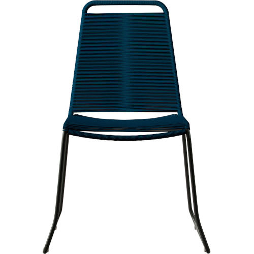 Barclay Blue Cord Outdoor Dining Chair