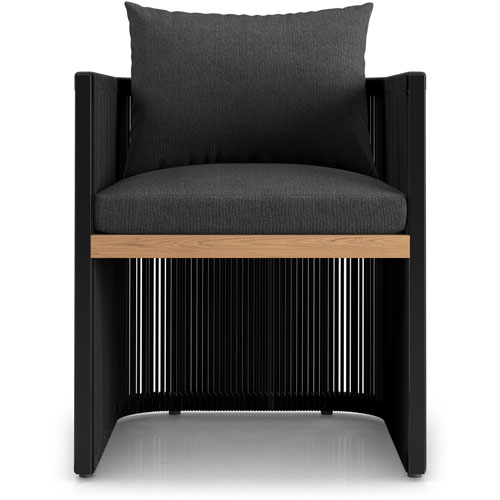 Clifton Peppercorn and Black Dining Chair