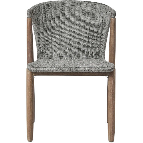 Embras Gray Cord Outdoor Dining Chair