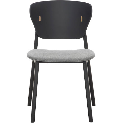 Emi Black Oak and Andorra Wool Dining Chair, Set of Two