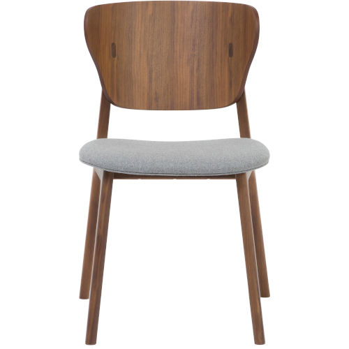 Emi Walnut and Andorra Wool Dining Chair