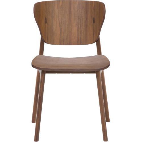Emi Walnut Dining Chair, Set of Two
