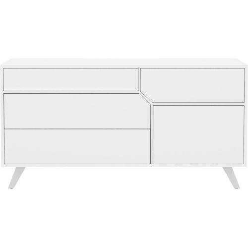 Rivington Glossy White 63-Inch Dresser