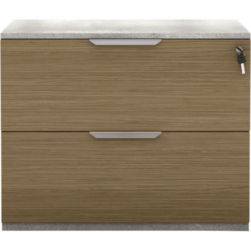 Broome Latte Walnut 29-Inch Lateral File Cabinet