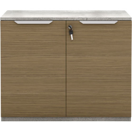 Broome Latte Walnut 29-Inch Two Door Lateral File Cabinet