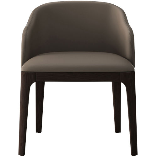 Wooster Castle Gray Eco Leather Dining Chair