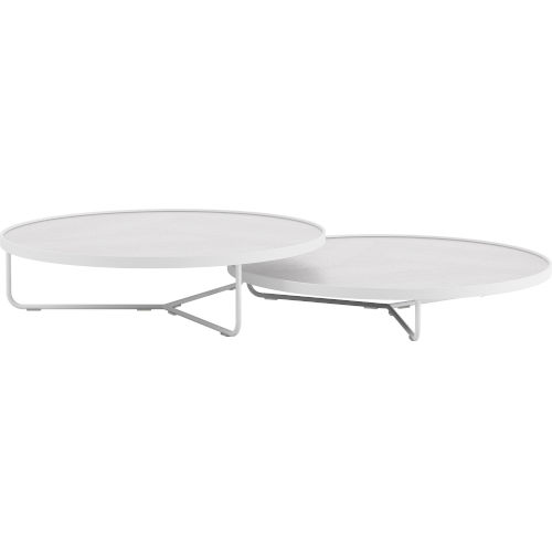 Adelphi White Crocco Reclaimed Leather Coffee Table
