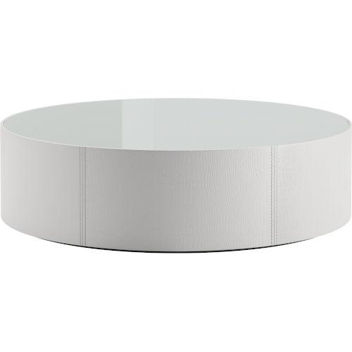 Berkeley White Glass Coffee Table