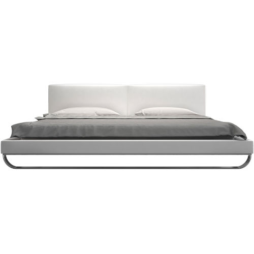 Chelsea White Eco Leather Bed