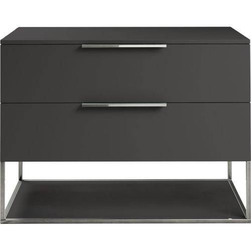 Bowery Dark Gull Gray Nightstand