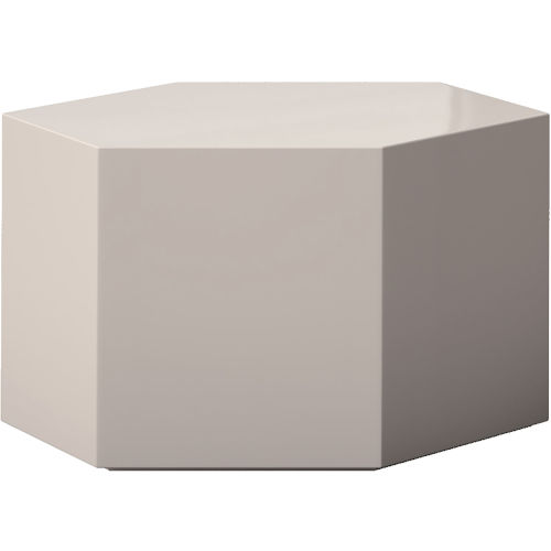 Centre Glossy Chateau Gray 10-Inch Coffee Table
