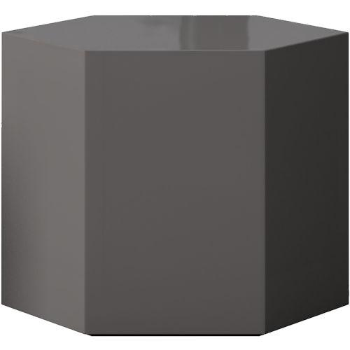 Centre Glossy Dark Gull Gray 14-Inch Coffee Table
