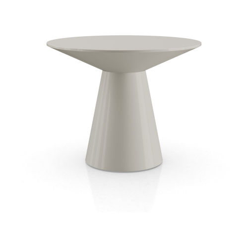 Sullivan Glossy Chateau Gray Side Table