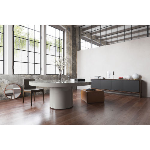 Berkeley Glossy Chateau Gray Dining Table