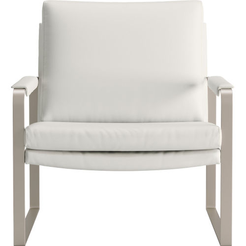 Charles Soft Snow Leather Lounge Chair