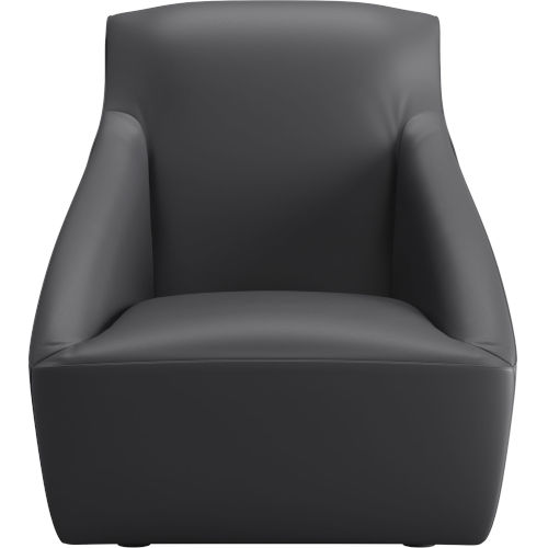 Forsyth Graphite Leather Lounge Chair